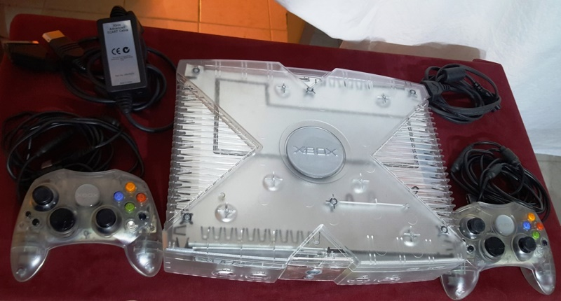 XBOX cristal + 2 manettes + DD2To 20170110