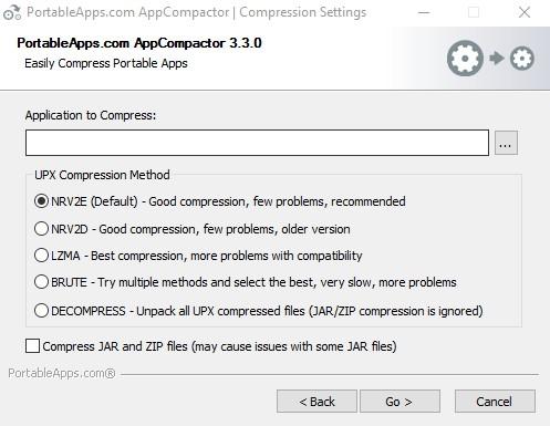 AppCompactor 3.3.0 - Συμπιέζει τις portable εφαρμογές σας σε USB 120