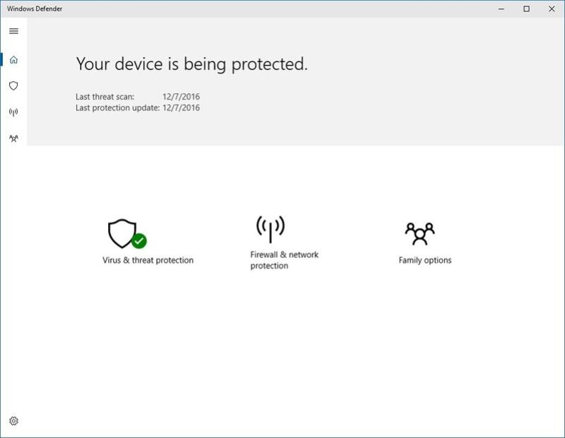 Το νέο UI του Windows Defender στα Windows 10  Micros12