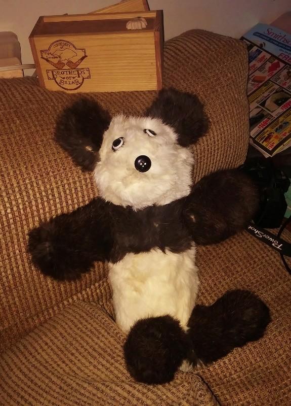Bunny fur Panda for new grandchild 12071610