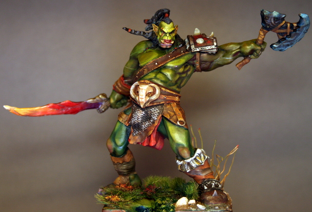 """Skargh, """"Orc fury"""", étude comparative.... - Page 2 Img_6426"""