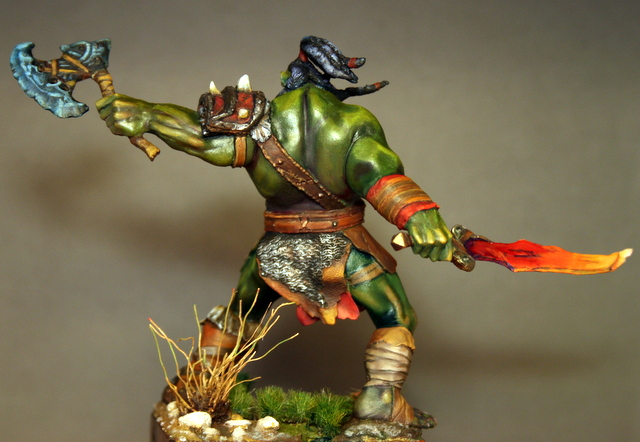 """Skargh, """"Orc fury"""", étude comparative.... - Page 2 Img_6427"""