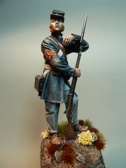 First Sergeant USMC  1850 , Fer Miniatures 75 mm P1090213