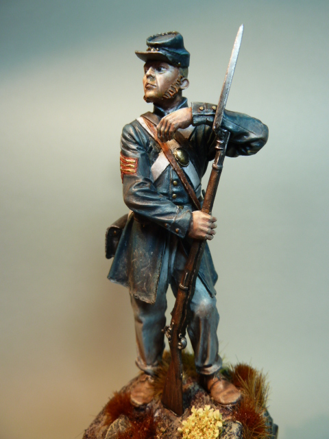 First Sergeant USMC  1850 , Fer Miniatures 75 mm P1090214