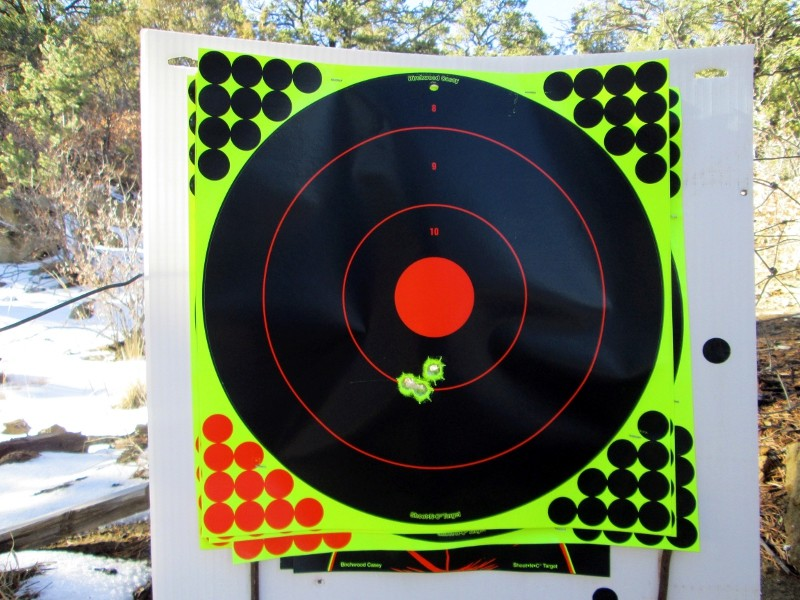 Conical Accuracy Test - Traditions Mountain Rifle Img_8419