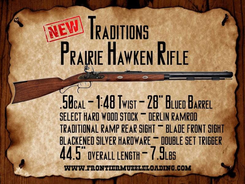 NEW Traditions Prairie Hawken Rifle Newphr10