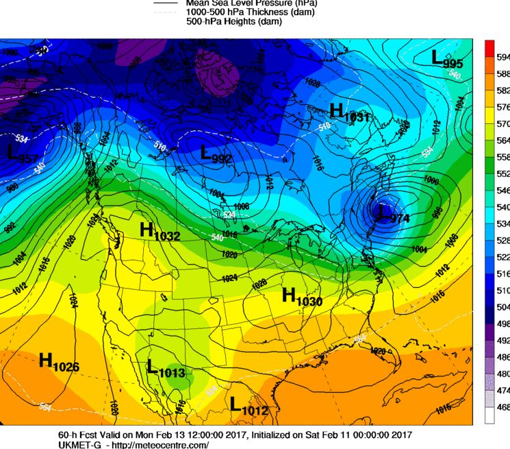 Sunday February 12th Possible Front-End Snow Thump 16711910