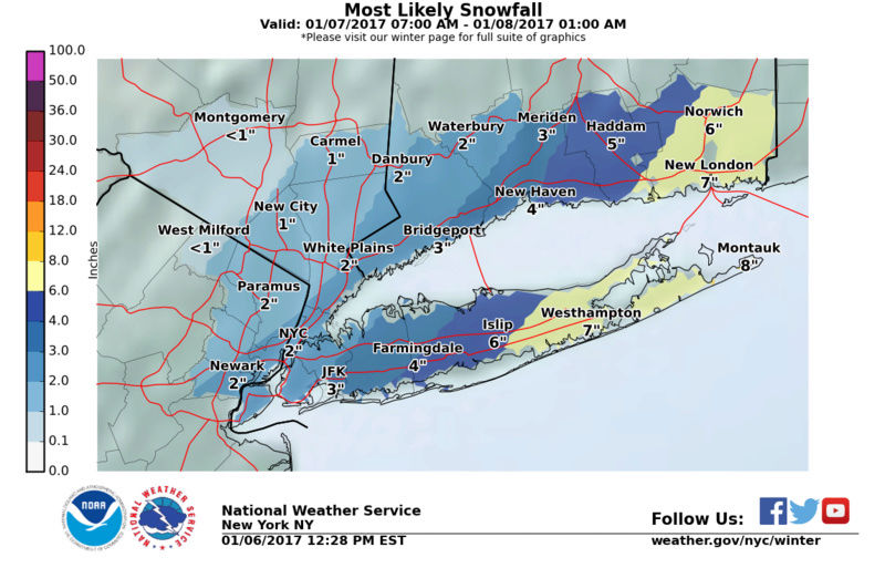 January 7th 2017 Snow Storm:  SNOW MAPS ONLY Stormt12