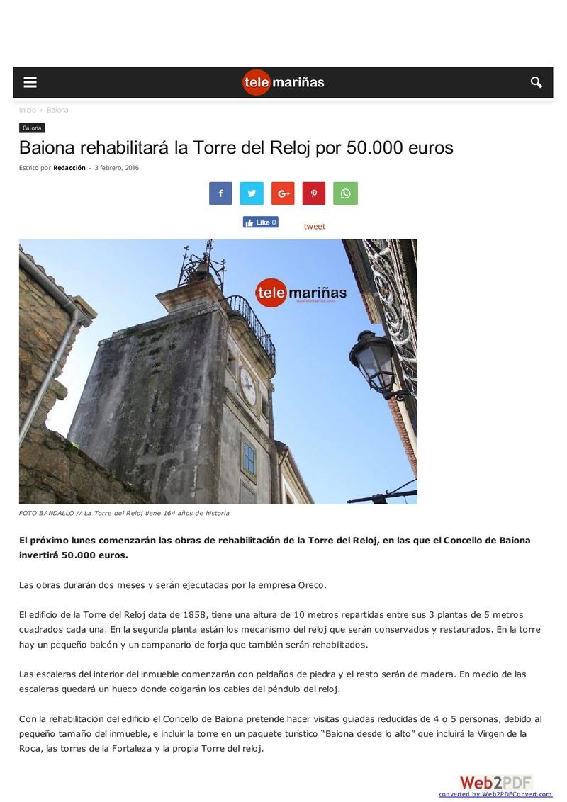 EL RELOJ DE LA TORRE DE BAIONA Telema10