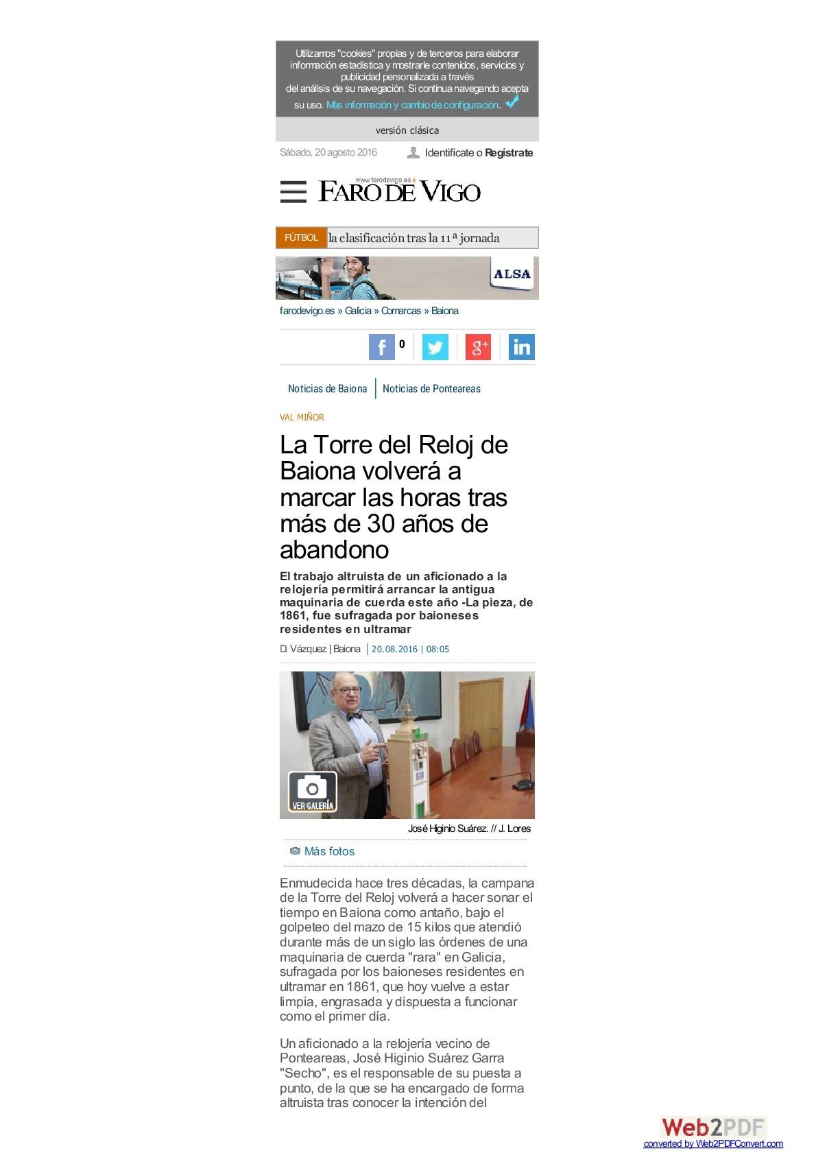 EL RELOJ DE LA TORRE DE BAIONA Www-fa10