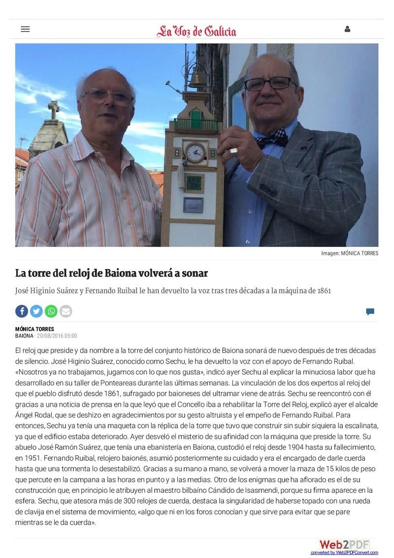 EL RELOJ DE LA TORRE DE BAIONA Www-la10