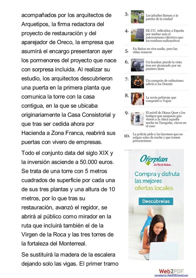 EL RELOJ DE LA TORRE DE BAIONA Www-la13