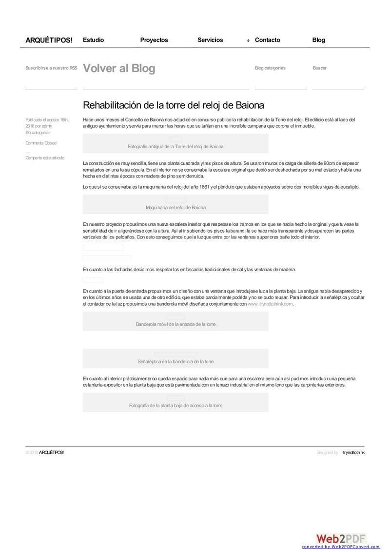 EL RELOJ DE LA TORRE DE BAIONA Www-qu10
