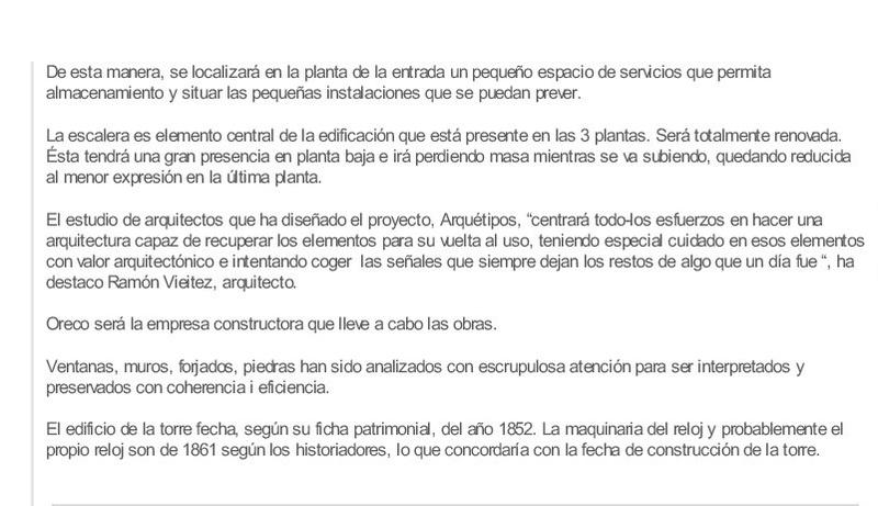 EL RELOJ DE LA TORRE DE BAIONA Xornal10