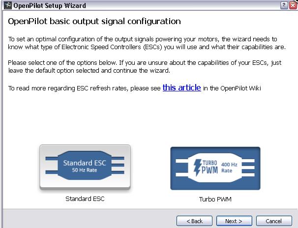 logiciel pour régler sa CC3D Captur12