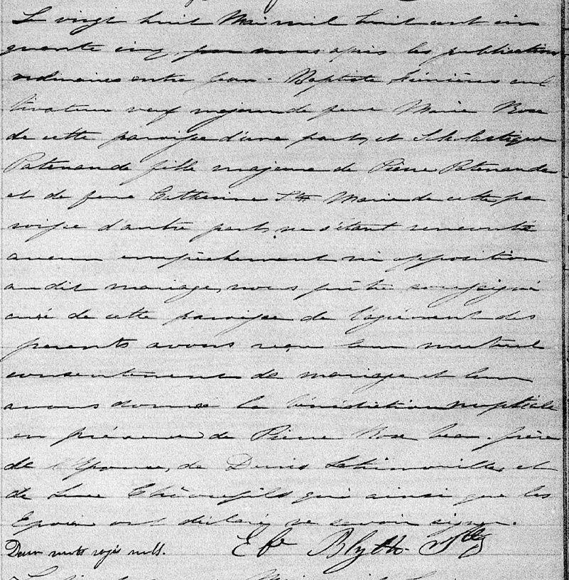 Jean-Baptiste Brault dit Pomainville et Scholastique Patenaude 634