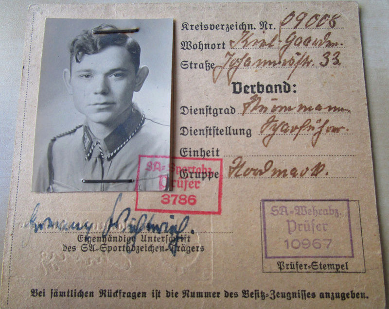 Ma collection : allemand des deux guerres mondiales (médailles, documents...) Carte_10