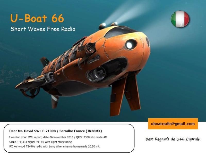 eQSL de R.U-BOAT 66 06-11-10