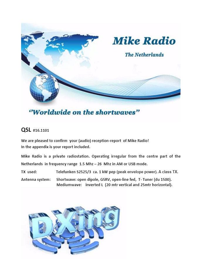 eQSL de MIKE RADIO 111