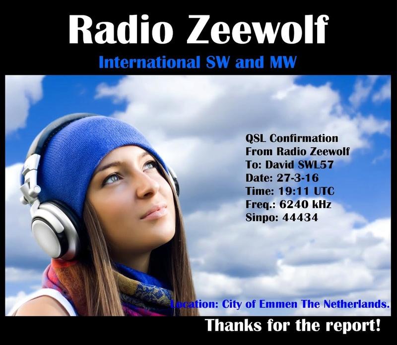 eQSL Radio Zeewolf / Blackstone. 201711