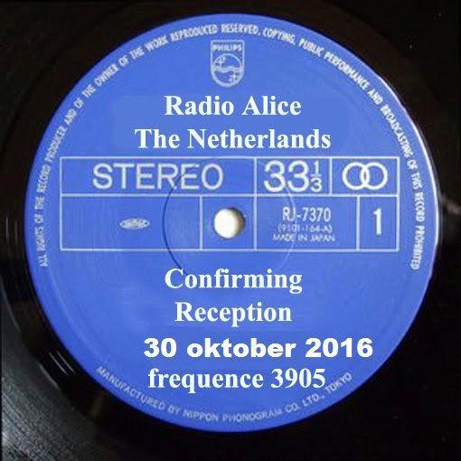 QSL de Radio ALICE 210