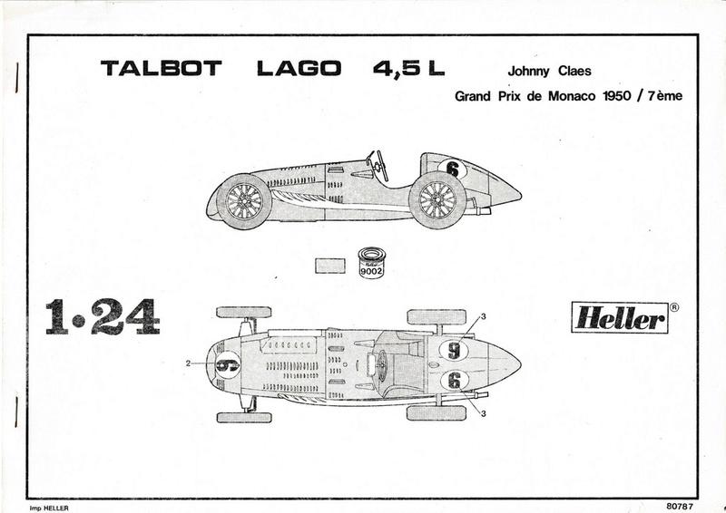 [HELLER] Talbo Lago GP - ref : 80721 -1/24e / Réedition 2016 Couver10