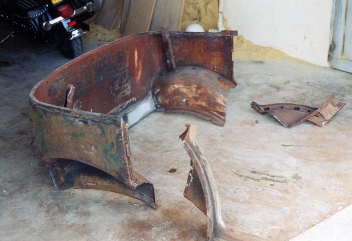 restauration du chassis rosalie 10B 2510
