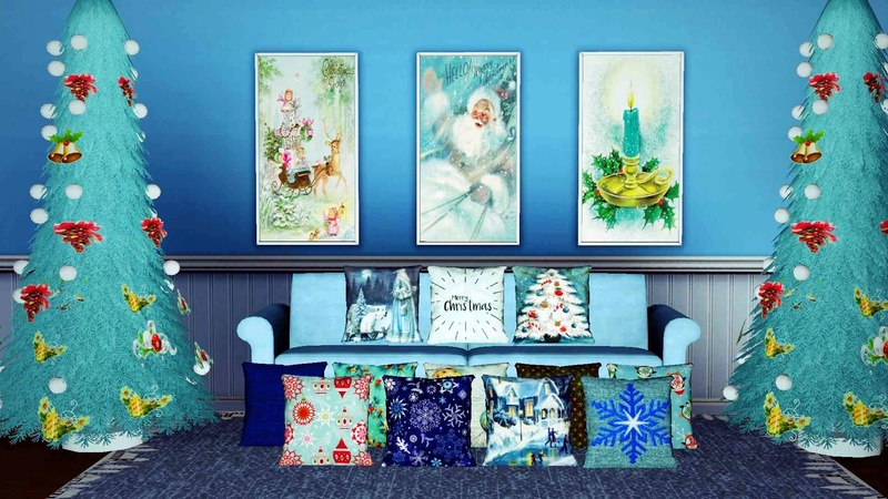 Xmas Vintage Paintings Set 1 & Christmas cusions Set 2 by InaMac69 11810