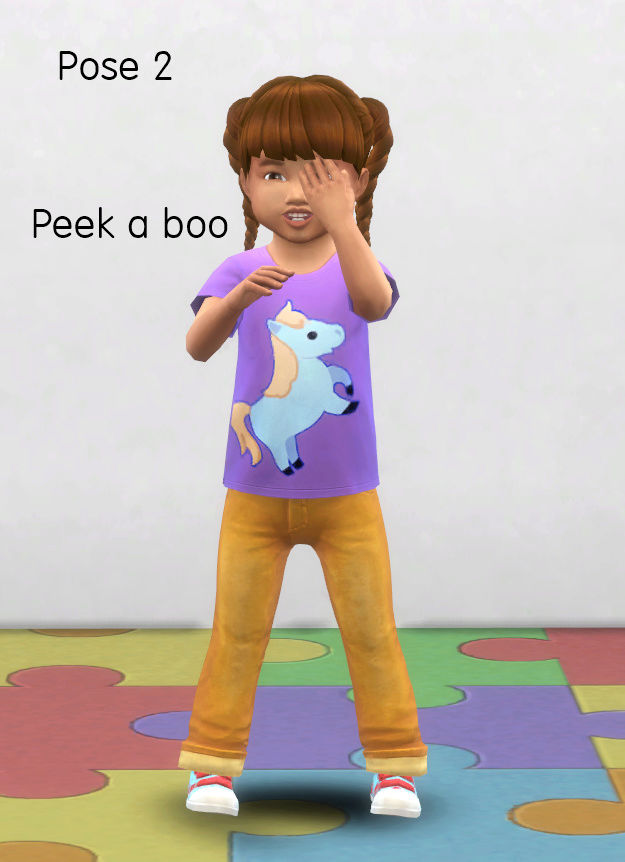 For the love of toddlers sims 4 pose pack Pose_211