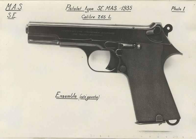 """Pistolet réglementaire MAS Modèle 1935 """"S"""" Photo_11"""