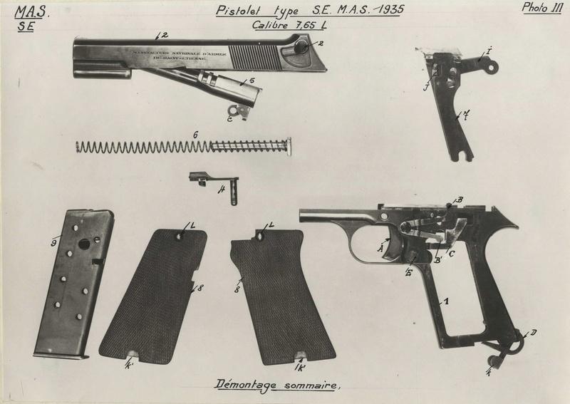 """Pistolet réglementaire MAS Modèle 1935 """"S"""" Photo_12"""