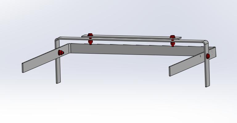 Fabrication + montage écarteur de sacoches cavalières Assemb10