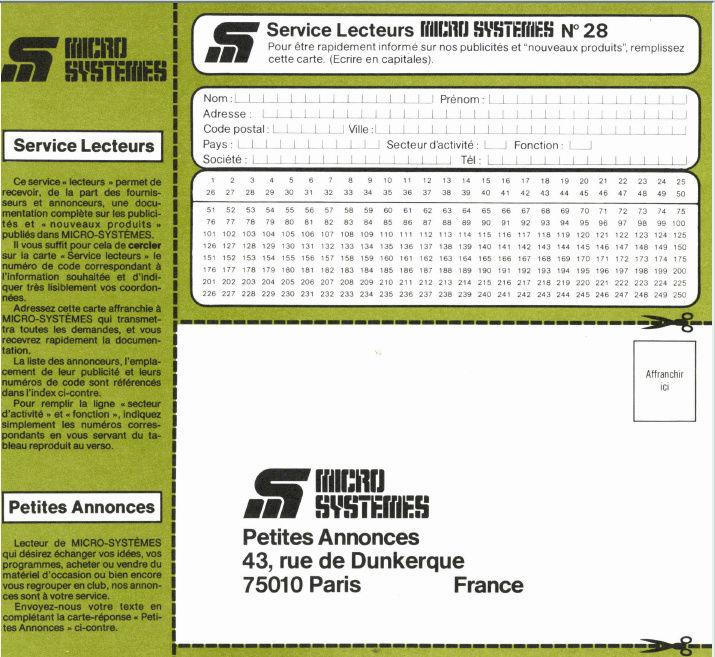 Articles sur l'Oric dans les revues Micro Systemes Ms28-s10