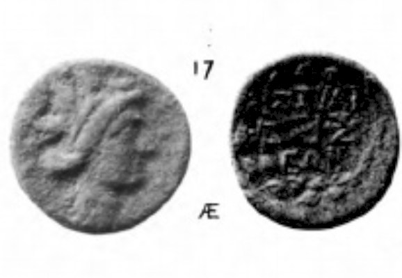 Petit bronze grec de la ville d'Histiée en Eubée Clipbo10