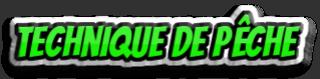 TECHNIQUE DE PECHE