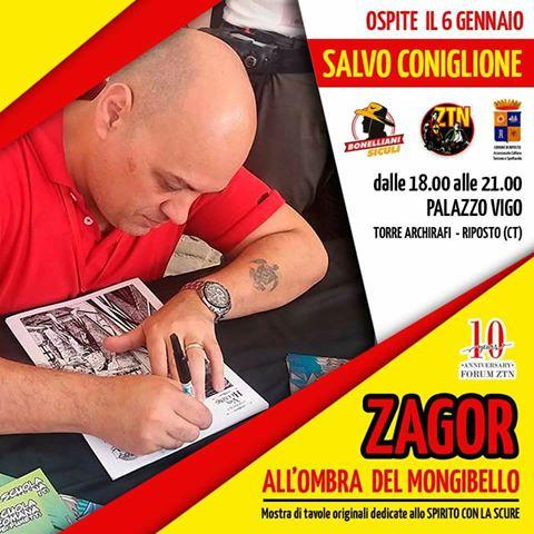 """Zagor """"All'ombra del Mongibello"""" Coni10"""