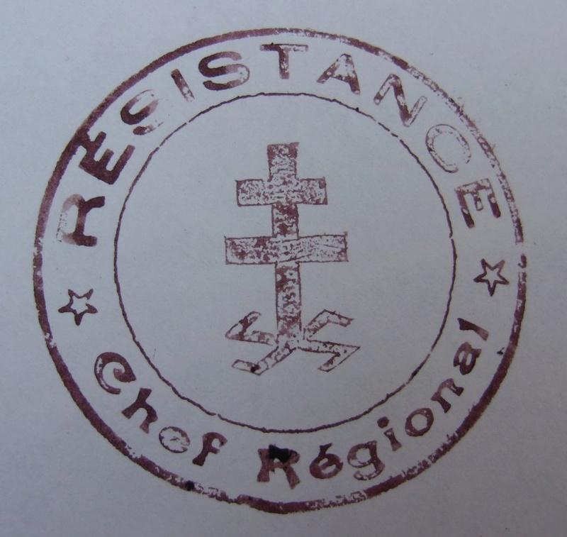 Cachet, timbre de chef régional de la résistance en France durant la WWII 104_6819