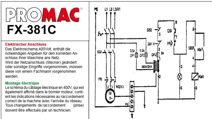 Fraiseuse Promac fx381c Pr10
