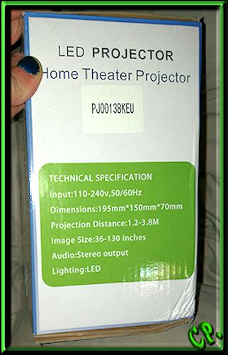 ieGeek Tragbarer LED Heimkino Mini Projektor Verpac81