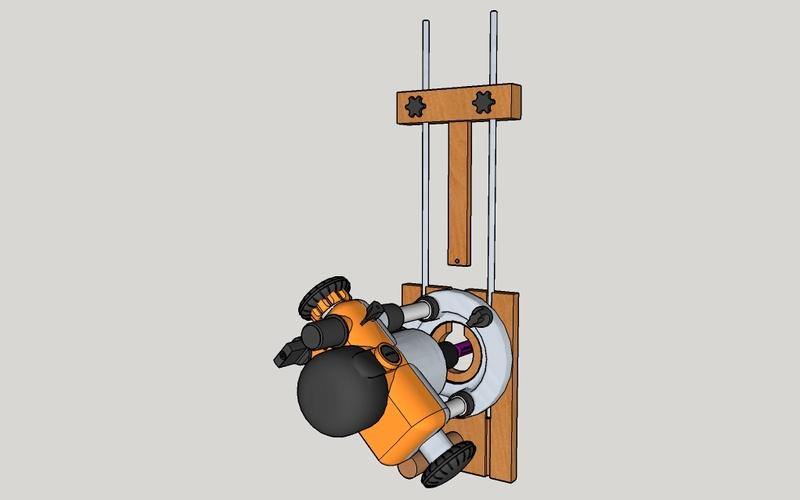 Guide de défonceuse avec réglage micrométrique et compas Semell10