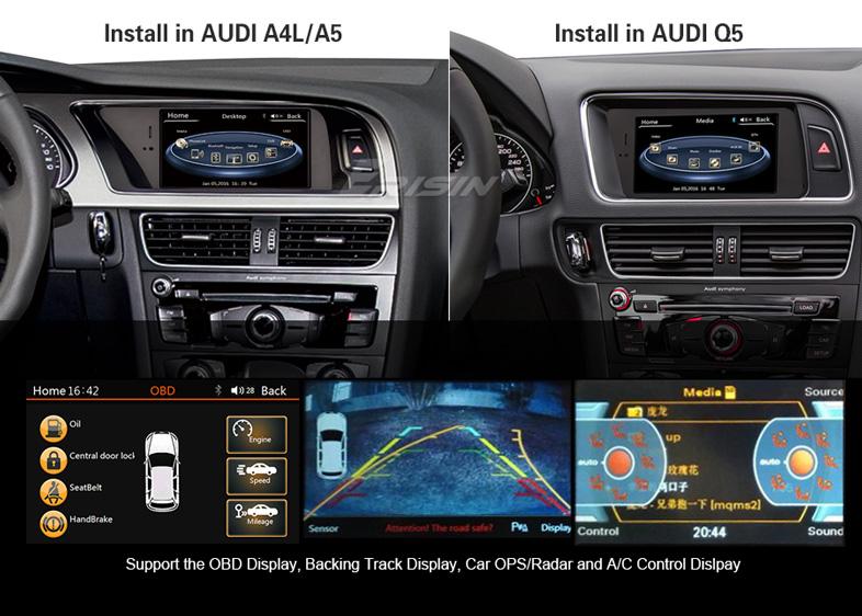 changer autoradio complet a4 a5 q5 par un systeme  chinois  Es745513