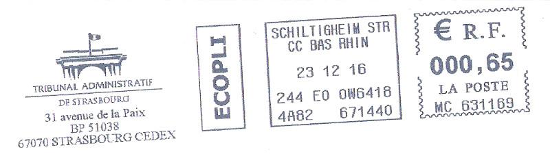 Étiquettes de machine à affranchir.. Oblit110