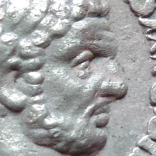 Indice d'usinage sur denier Caracalla Denier11