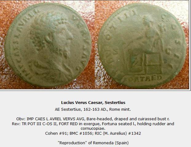 Sesterce de Lucius Verus Remone10