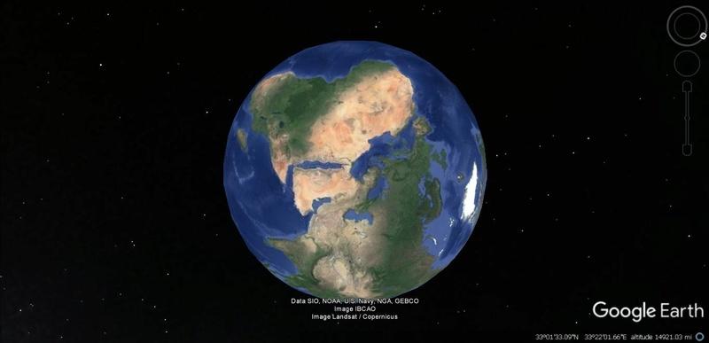 Activation des reliefs sur Google Earth 1011