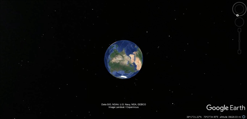 Activation des reliefs sur Google Earth 153