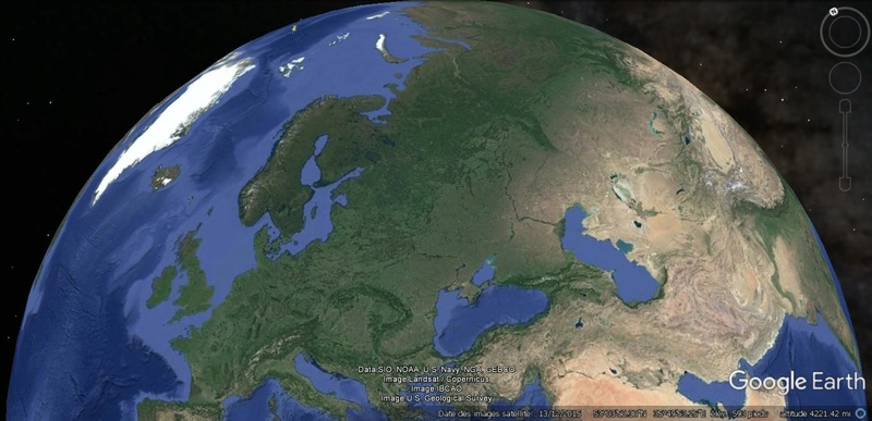 Activation des reliefs sur Google Earth 910