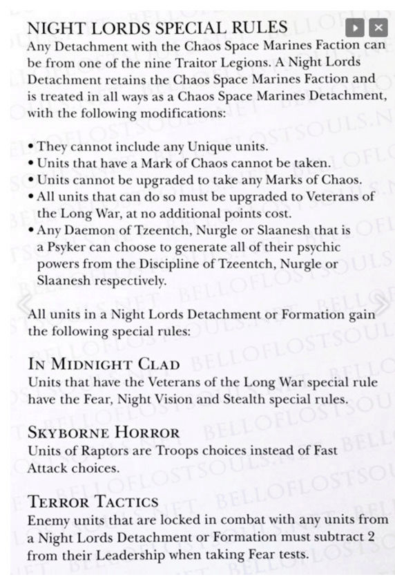 [Codex Traitor Legions] - Analyse  P110