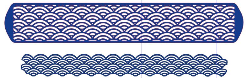 Estampage avec une matrice papier Bracel10