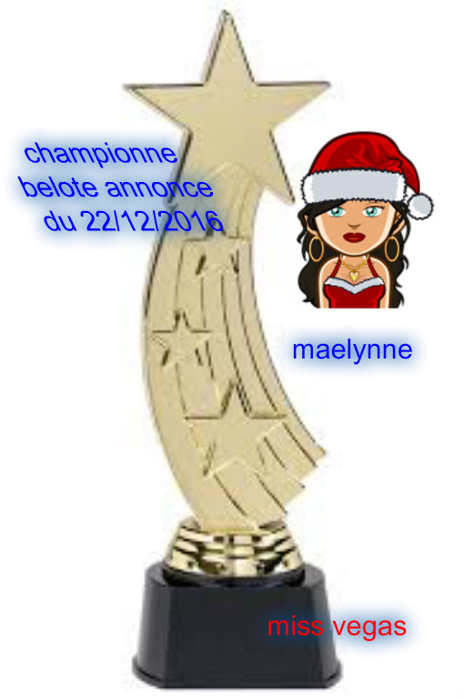 TOURNOI  BELOTE ANNONCE SPECIAL NOEL  DU 22/12/2016 Maelyn10